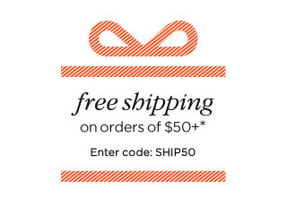 Free shipping on orders of $50+