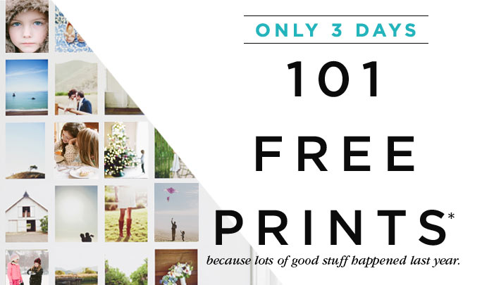 ONLY 3 DAYS - 101 FREE PRINTS*