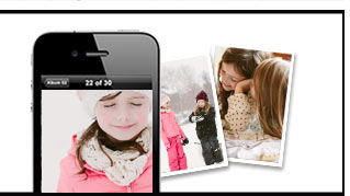 On the go? Easily upload and order pics from anywhere.
