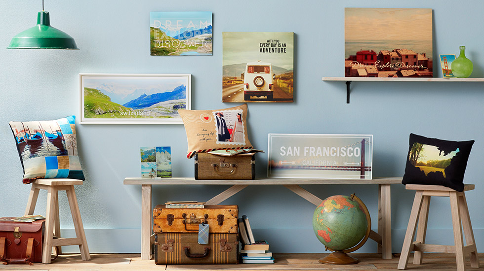 Travelogue collection travel decorations home decor shutterfly - Home decorating school collection ...