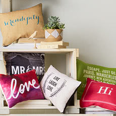 Learn how to make Conversational Pillows at the Shutterfly Design Studio.