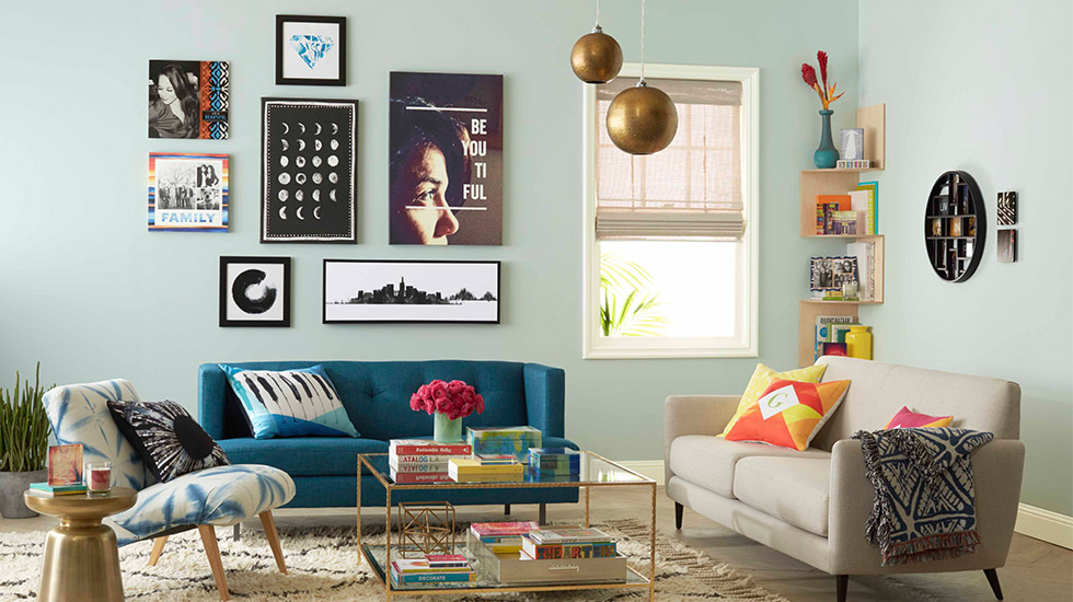 Modern Geo Living Room
