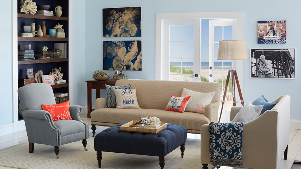 Coastal Living Rooms. Coastal Calm Living Room Traditional  Home D cor Shutterfly