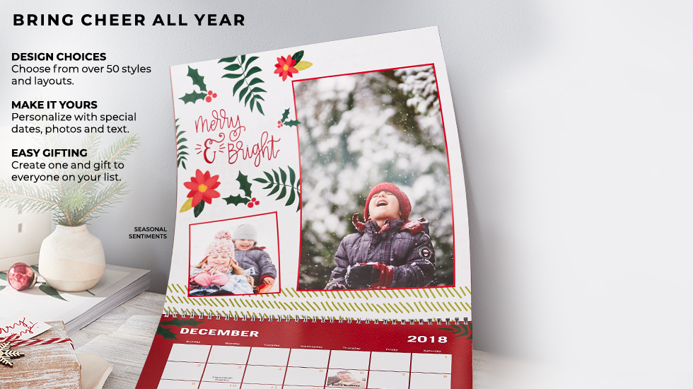 personalized 2018 photo calendars shutterfly