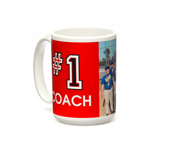 Let coach know he/she is number one in your eyes with a personalized mug from Shutterfly.