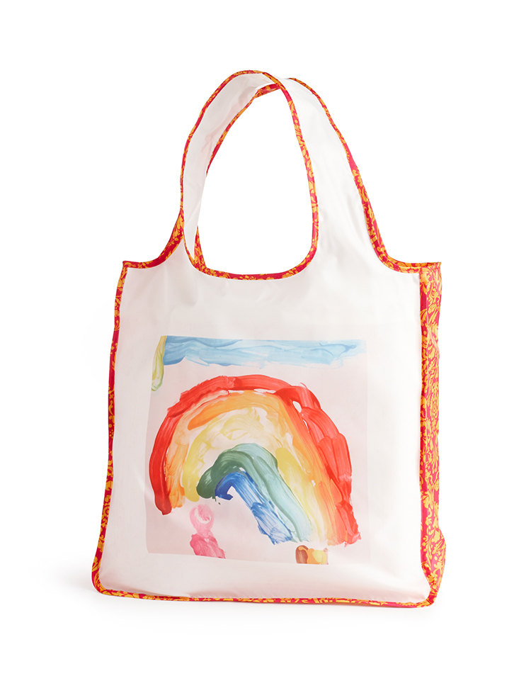 A reusable bag from Shutterfly meets function and fashion. Folds to the size of the palm of your hand.