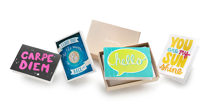 Mix & Match stationery sets from Shutterfly are easy to make and fun to give.
