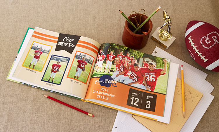 Touchdown on the perfect gift. This photo book from Shutterfly is a winner with photos from the season.