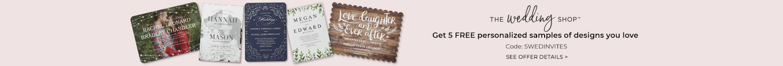 5 free wedding invites