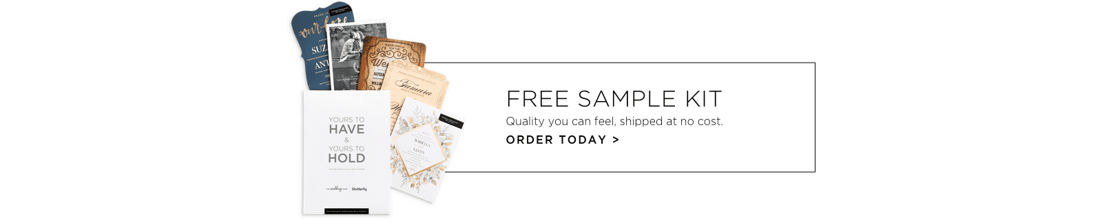free wedding sample kit