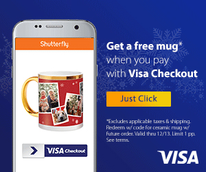 Get a free mug when you pay with Visa Checkout