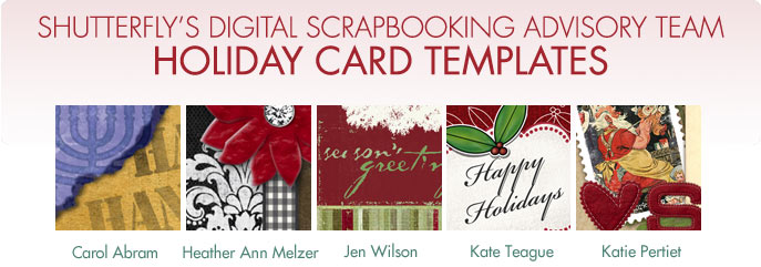 Shutterfly Digital Scrapbook Advisory Team – Holiday Card Template