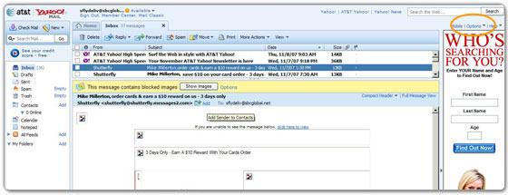 SBC Global/Yahoo! All-New Mail version