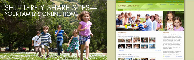 Shutterfly Share Sites - Your Family's Online Home