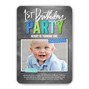 Baby Boys 1st Birthday Invitations