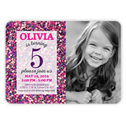 Birthday invitations birthday party invites shutterfly girl birthday invitations stopboris Image collections